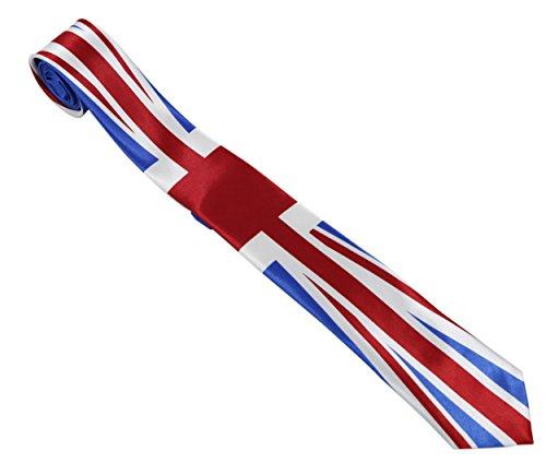 Komonee Cravate Unisexe Bleu Union Jack (Ti48)