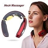Massaggiatore Cervicale,Massaggiatore per Collo Intelligente,Massaggiatore Cervicale Elettromagnetico,Cura del Collo a Pressione Delle Dita,Fisioterapia Elettromagnetica Profonda,6 modalità