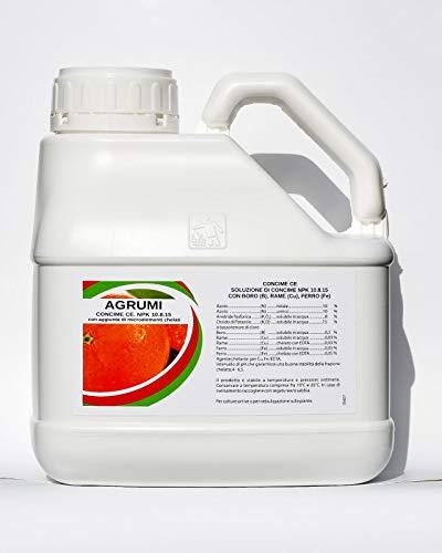 bio A.L.T. Concime Liquido Specifico Fertilizzante con Azoto Fosforo Potassio per Agrumi Arance Limoni Migliora la Crescita di Colture in Giardino per Piante in Appartamento Esterno in Vaso (3 Litri)