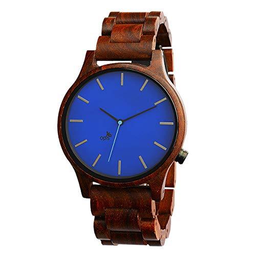 Opis UR-M1 (Sándalo Rojo) Reloj de Madera para Hombre/Reloj de Pulsera de Madera/Reloj Pulsera Vintage para Hombre