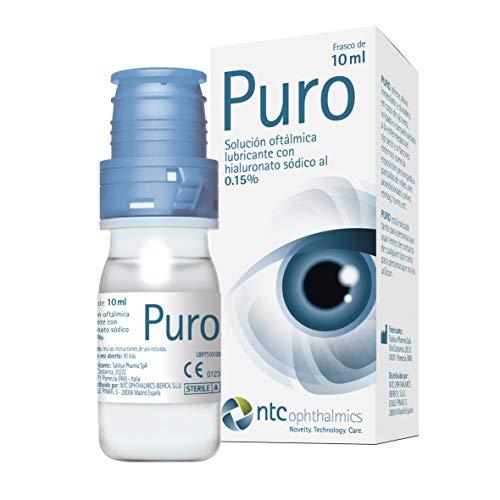NTC Pharma | PURO | Solución Oftálmica para Ojos Secos con Hialuronato Sódico al 0,15% | Acaba con la Sequedad Ocular con nuestro Lubricante Ocular de Gotas Hidratantes