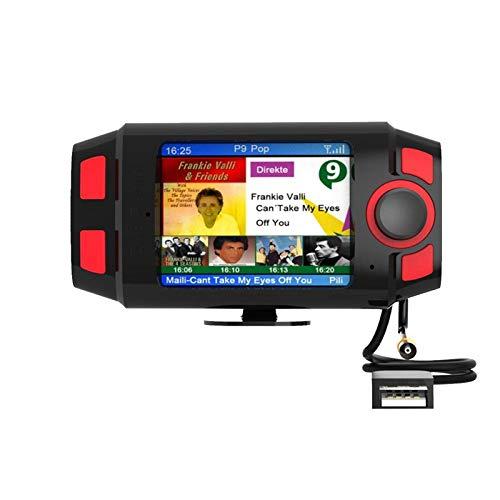 Youmine 2.4 Pulgadas de Pantalla Colorida Car Dab + / Dab Radio Adaptador Transmisor FM, con Manos Libres y Kit de ReproduccióN de MúSica para AutomóVil