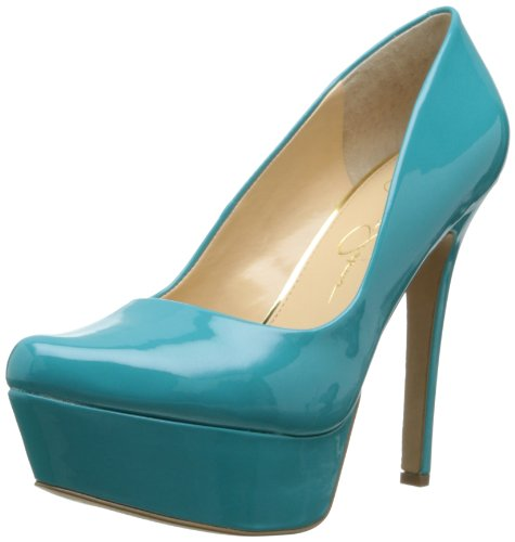 Jessica Simpson Women's Js-Waleo, Cool Aqua Patent 7.5 M US