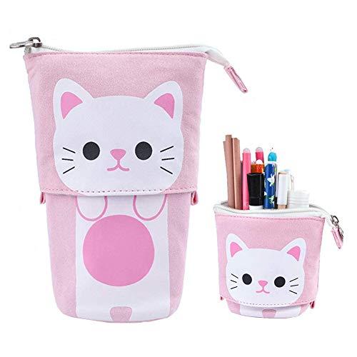 LEDDP Estuches Estuche pequeño Escolar Estuches de lápices para Chicas Adolescentes Lindos Bolsa de lápices para niñas Pink