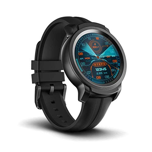TicWatch E2, 5ATM Waterproof GPS Smartwatch with 24 Hours Heart Rate Monitor, Wear OS by Google, Compatible with Android and iOS (Renewed)