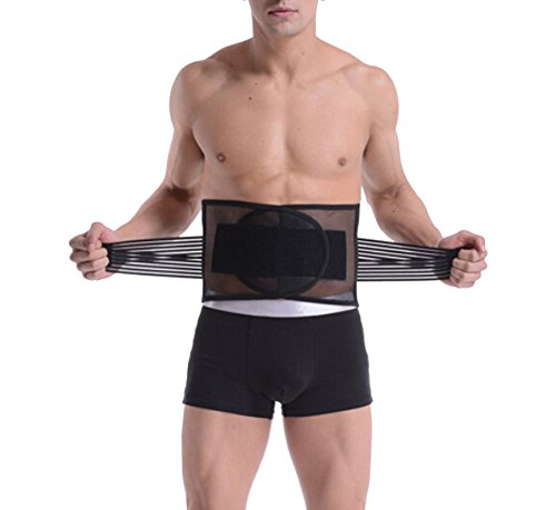 ieasysexy NEW Arrival Men's Breathable Adjustable Waist Trimmer Belt,Body Shaper Slimming Slim Lift Tummy Belt,Lose Weight Tummy Fat Burning Slimming Belt,Sports Waist Support, Best Waist Trimmer Beer Abdominal Binder Belly,Size XL,Lenght approx 112cm