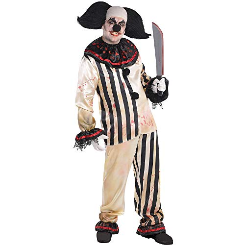AMSCAN Freak Show Bloody Clown Shirt and Pants Halloween Costume for Adults, One Size