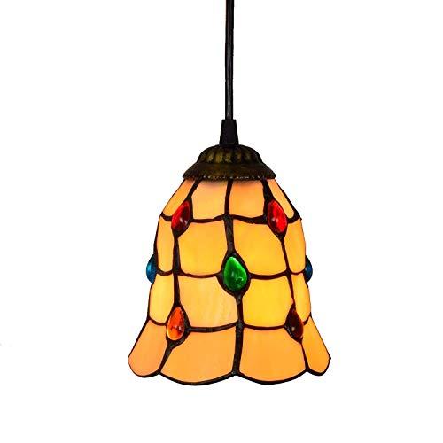 YANQING duurzame hanger licht retro creatieve kroonluchter tiffany stijl kroonluchter glas lampenkap kroonluchter bar art persoonlijkheid bar kleine kroonluchter Phoenix kralen kroonluchter