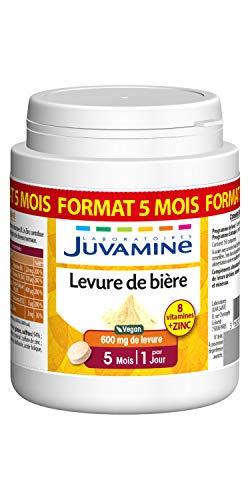 JUVAMINE - LEVURE DE BIÈRE - Beauté de la peau, des cheveux et des ongles - 100% naturel, MAXI FORMAT 150 comprimés