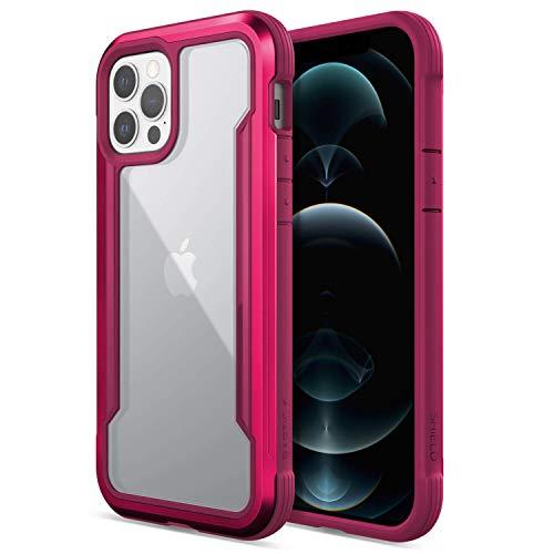 X-Doria Raptic Shield Fall kompatibel mit iPhone 12 & iPhone 12 Pro Fall, Stoßdämpfung Schutz, langlebige Aluminiumrahmen, 10ft Drop getestet, passt iPhone 12 & iPhone 12 Pro, Kranichbeere