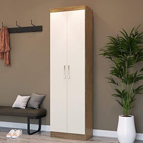 Armário Multiuso 2 Portas Mauí 4090 Móveis Doripel Off White/nogueira