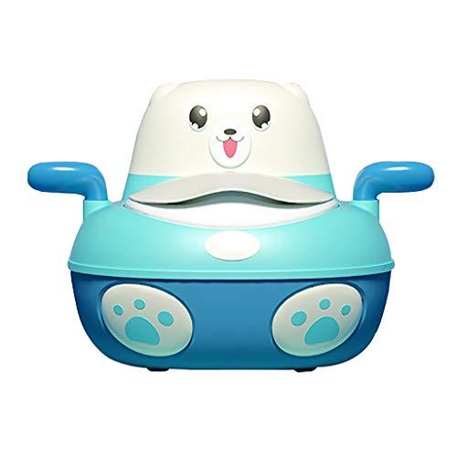QFbp Pot d'enfants avec Boîte De Serviette en Papier,Siège De WC 4 en 1,Dessin Animé Mini Coussin en PU pour 1-5 Ans Petit Garçon Fille Rose Bleu