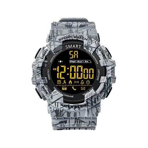 Kariwell Fitness Reloj Inteligente – Seguimiento de Actividad de Paso IP68 Impermeable Reloj Standby 365 días Pulsera para Deporte Hombres Mujeres Kari-87, 48.5x43x13mm, Gris