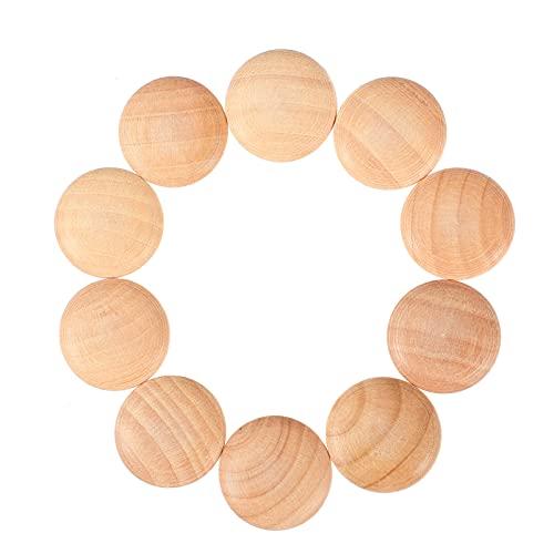UKCOCO Tapón de madera con tornillo de rosca, tapón de rosca, botón de cerezo, parte superior de madera, herramientas para manualidades, proyectos de carpintería y muebles.