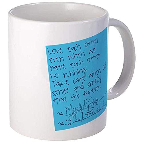 N\A Taza de Nota Adhesiva Greys Anatomy - Relleno de calcetín de Taza de té de café de cerámica de 11 oz C7EMY0