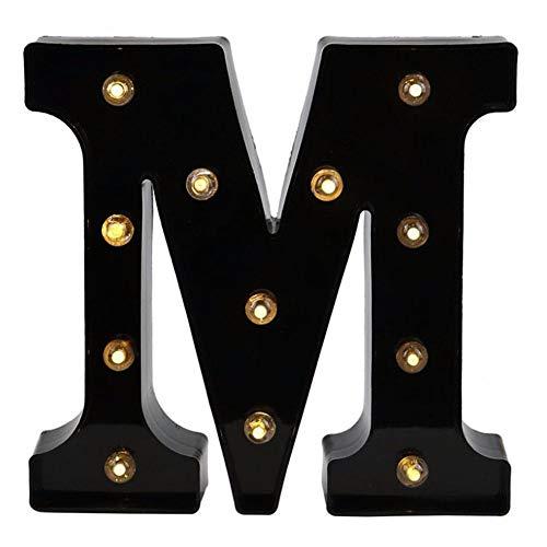 Milnut Alfabeto inglés Luces LED Combinación Libre de Letras inglesas(Love Bar Beer...