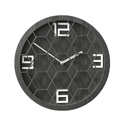 LINGZHIGAN Creative Decorative Wall Clock Boy Colorful Clock Retro Chambre Salle d'étude Salle de séjour Enfant Petite 30cm ( Couleur : B )