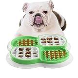 Cuenco Comida Perro Antivoracidad,Comedero Lento para Perros y Gatos,Juguetes Interactivos para Perros,Almohadilla Lamer de Perros de Alimentación Lenta,Plato de Comida para Mascotas,Comida Lenta