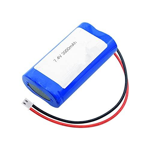 josiedf Batería De Litio De 7.4v 3000mah 18650, Grupo De Paquete XH Conector De 2.54 Mm para Linterna De Control Remoto DIY Power Bank