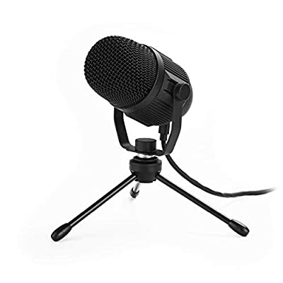Majority RS1 Directional Condenser USB Microphone for Streaming, Zoom, Podcasting, Gaming, Singing, Starter Home Studio Recording Equipment Desk Mic for PC, Mac, Laptop, Tripod Desktop Stand Included