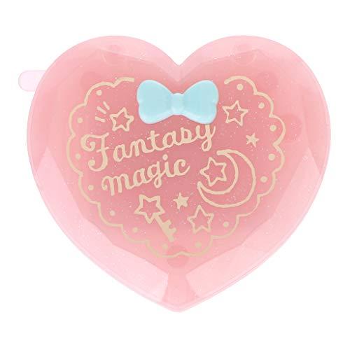 MB-LANHUA Brosse à Cheveux Pliante avec Miroir Compact Pocket Format Voyage Peigne Coeur en Forme de Cadeau Rose