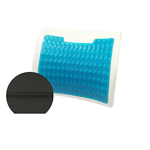 JUAN Cushion Honeycomb Egg Gel Sitzkissen, Breathable Gel-Kissen Stuhlkissen mit Abdeckung for Home Office Car Rollstuhl (Size : 43x42cm)