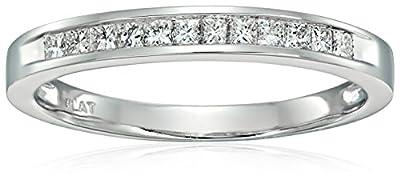 Platinum Princess-Cut Diamond Wedding Band (1/4cttw, H-I Color, SI2-I1 Clarity)