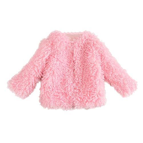 Kobay Kobay Kid Mädchen Hoodie Winter Warm Coat Haarige Nette Dicke Jacke(5-6T,Rosa)