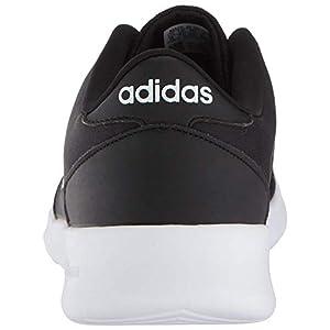 adidas Women's Cloudfoam QT Racer Sneaker, Black/White/Carbon, 9 M US