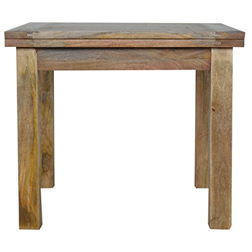 Artisan Furniture Extendable Butterfly Dining Table with Straight Legs, Wood, Natural Oak Finish