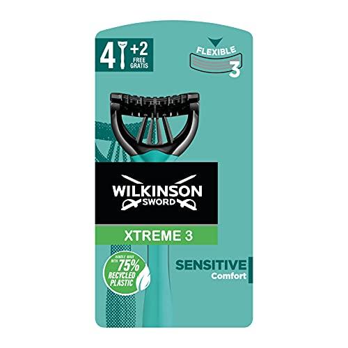 Wilkinson Sword Xtreme 3 Sensitive Einwegrasierer Einmalrasierer, 6 St