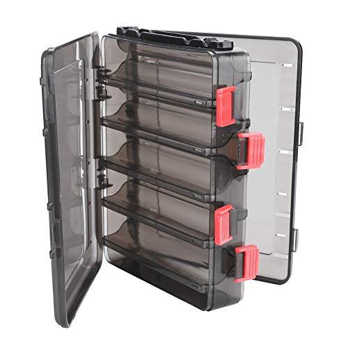 Starbun Caja de Cebo - Caja de camarón de Pesca de Doble Cara Caja de camarones Herramienta de Almacenamiento de señuelo de Cebo con 10 Compartimentos