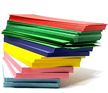 IMPRINT 100 Assorted Colours Index Cards 3  x 5  Both Side Blank and unruled