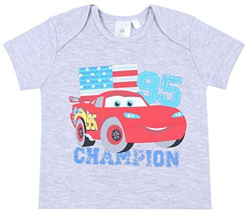 sarcia.eu T-Shirt para bebé, Gris, Rayo Mcqueen Cars 18 Mes
