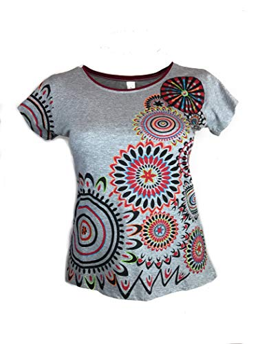 t Shirts Womens etnische 100% katoen. Korte mouwen Hippy, Indian Style T-Shirt/Top,Boho,Cool