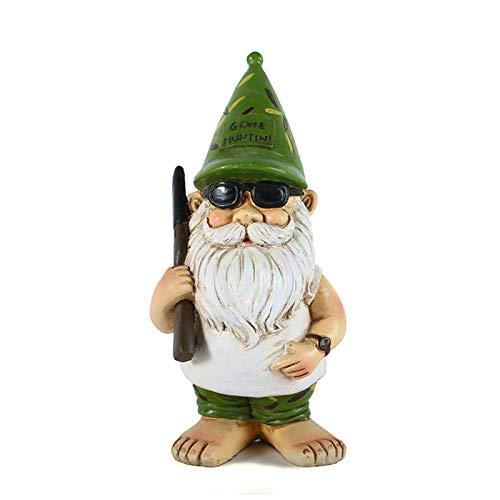 Gartenzwerg | Gartenfiguren & Gartenstatuen - 19 Cm Klein Gnome Statue, Gartenzwerg Figur/statue, Gartenfiguren Für Außen - Exzellentes Gartenornament/Rasenkunst