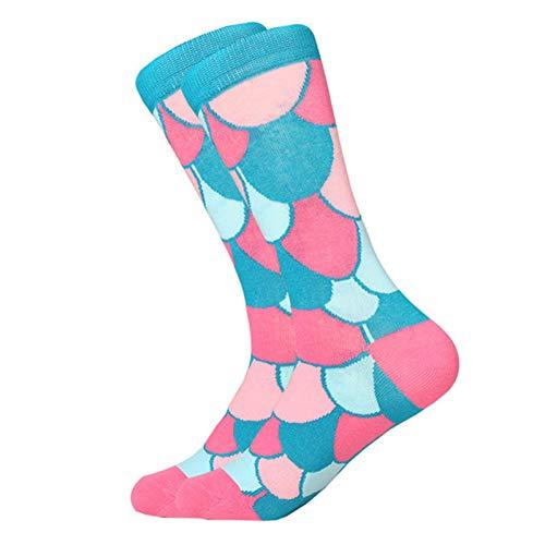 WLQXDD Spezielle Geschenksocken Bunte Männersocken Süße Alpaka Hund Tasse Fisch Elefant Zebra Universum Hai Punkt Vogel Kreative Crew Socken Für Mann Frau Sox