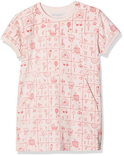 Imps & Elfs G Dress Slim Albertinia AOP Robe, Rose (Lotus P471), 62 Bébé Fille