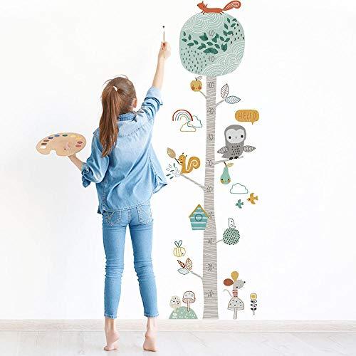 ZJXSNEH Pegatinas de Altura de Árboles de Animales de Bosque de Color Pegatinas de Pared Pegatinas de Pared de Decoración Creativa Para la Habitación de Los Niños y el Jardín de Infantes 30X60CM