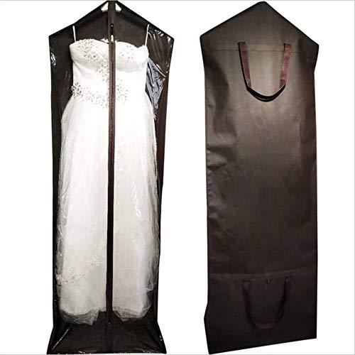 Bruidsjurk Kleding Opbergtas, Ademende Bruidsjurk Kleding Cover Tassen - Pack van 2 Elegante Avond Prom Jurk, W-D, a, 170x60x30cm