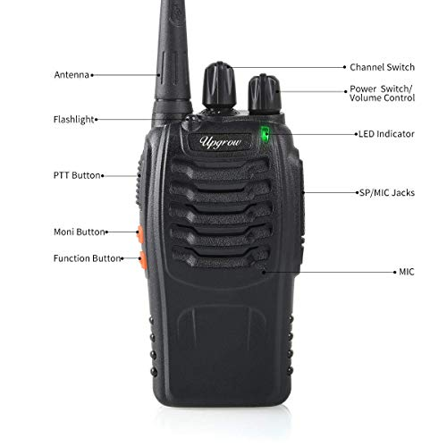 Upgrow Walkie Talkie Rechargeable Walkie Talkies Long Range 16CH Two Way Radio Handheld FM Transceiver for Adult Field…