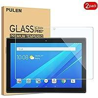 PULEN Lenovo Tab E10 - Protector de Pantalla para Tablet Lenovo Tab E10 (2 Unidades, Cristal Templado, Burbujas, antihuellas, Compatible con Carcasas)