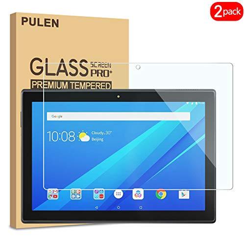 Protector de pantalla Pulen para tablet Lenovo TAB E10 (TB- X104F),  vidrio templado de alta calidad,  sin burbujas y antihuellas,  compatible con la funda,  película HD2.5D (paquete de 2)