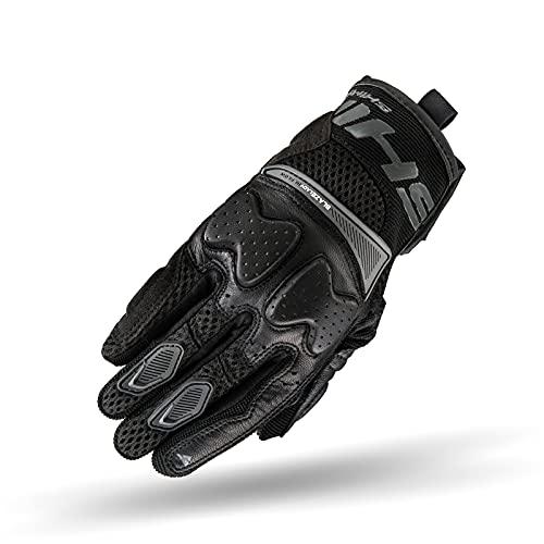 SHIMA BLAZE LADY Motorradhandschuhe Damen - Belüftete, Sommer Handschuhe aus Mesh mit Knöchel und Finger Protektoren, Verstärkte Handfläche (Schwarz, L)
