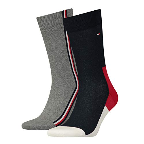 Tommy Hilfiger Herren TH Men Iconic Hidden 2P Socken, Mehrfarbig (Tommy Original 085), 39/42 (2er Pack)