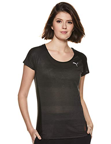 PUMA Damen Thermo-R+ S/S Tee T Shirt, Black Heather, XS