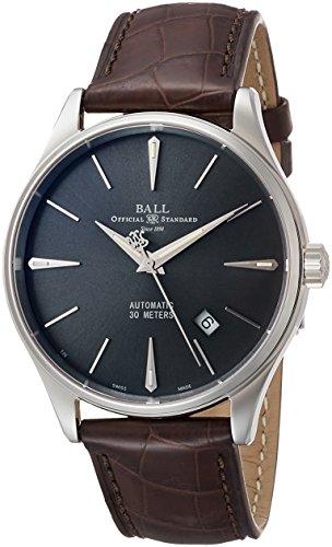 [ボールウォッチ] 腕時計 トレインマスター レジェンド グレー文字盤 レザーベルト 自動巻 NM3080D-LJ-GY メンズ 並行輸入品