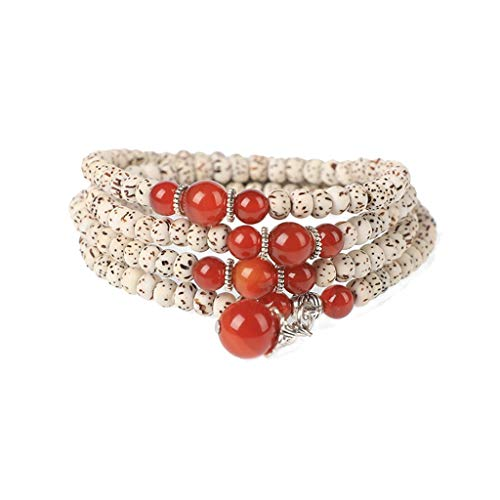 MISS YOU Hainan Xingyue Bodhi women's multi-ring bracelet, yoga meditation Tibetan prayer beads, 0.11-0.23in (Color : A)