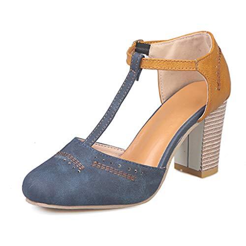 FRAUIT Scarpe Donna Estive Sandali Tacco Largo Sandali Ragazza Con Tacco Quadrato Scarpe Eleganti Con Tacco Medio Da Cerimonia Chiuse Scarpe Elegante Decollete