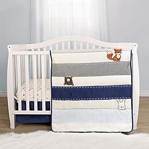 Baby's First By Nemcor Forest Animals 3-Piece Crib Bedding Set, Blue